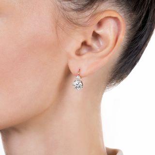 Victorian Diamond Drop Earrings - GIA