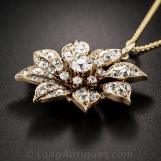 Victorian Diamond Flower Pendant
