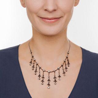 Victorian Diamond  Fringe Necklace
