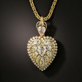 Victorian Diamond Heart Locket - 2