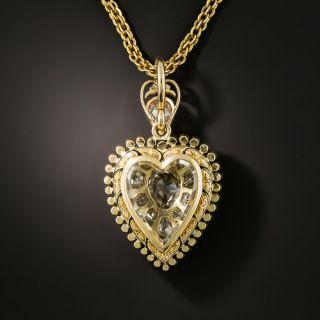 Victorian Diamond Heart Locket