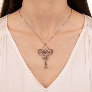 Victorian Diamond Lavalière Necklace