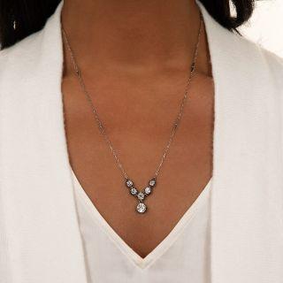 Victorian Diamond Necklace - GIA I VS1