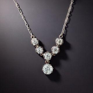 Victorian Diamond Necklace - GIA I VS1 - 1