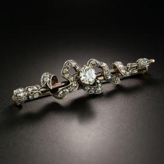 Victorian Diamond Ribbon Pin, Circa 1875 - 3