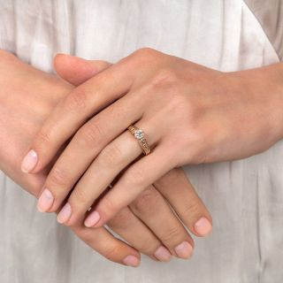 Victorian .38 Carat Diamond Solitaire Ring