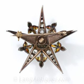 Victorian Diamond Star Pin