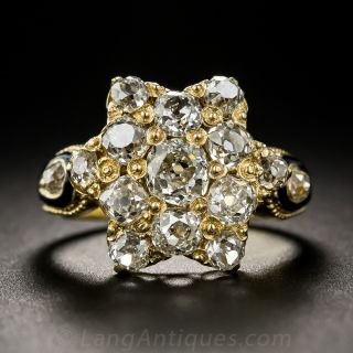 Victorian Diamond Star Ring - 2
