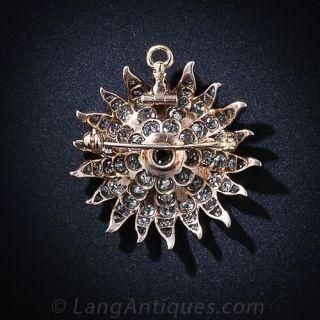 Victorian Diamond Starburst Pendant/Pin
