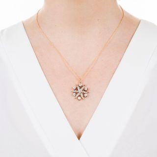 Victorian Diamond Sunburst Pendant