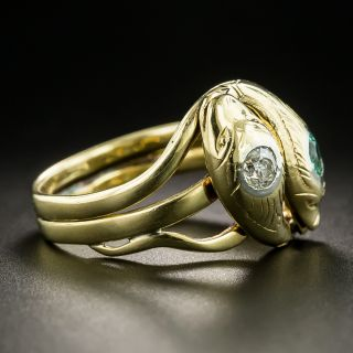 Victorian Double Snake Ring  - Size 9 1/2