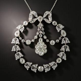 Victorian/Edwardian Diamond Garland Wreath Circle Necklace - 3