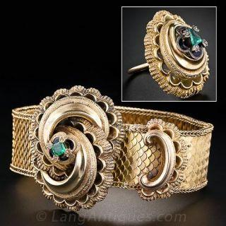 Victorian Emerald Bracelet and Ring Set - 2