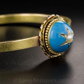 Victorian Enamel and Pearl Bracelet
