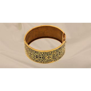 Victorian Enameled Bangle Bracelet
