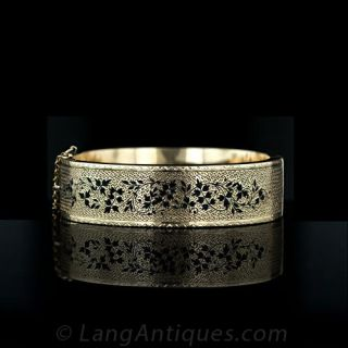 Victorian Enameled Bangle Bracelet Main View