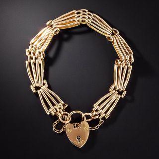 Victorian Gate Bracelet, English 15ct - 1