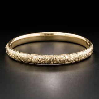 Victorian Engraved Bangle Bracelet