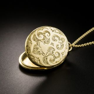 Victorian Engraved Oval Locket