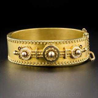Victorian Estruscan Revival Bangle Bracelet