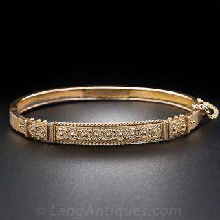 Victorian Etruscan Revival Bangle Bracelet