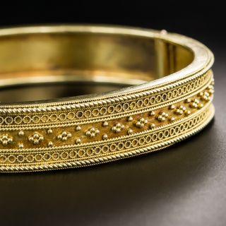 Victorian Etruscan Revival Bangle Bracelet - 2