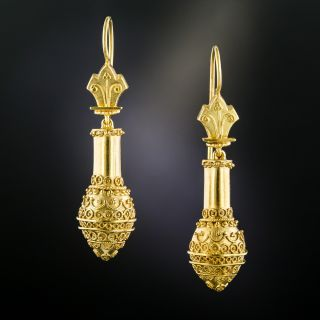 Victorian Etruscan Revival Earrings, Circa 1875