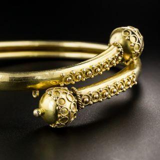Victorian Etruscan Revival Flexible Bracelet - 2