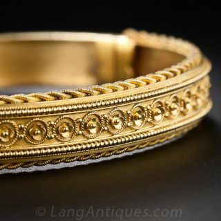 Victorian  Etruscan Revival Style Bangle
