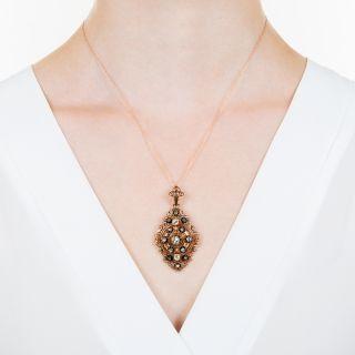 Victorian Filigree Diamond Necklace