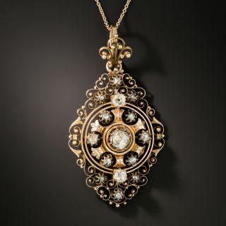 Victorian Filigree Diamond Necklace - 3