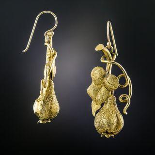 Victorian Flowering Gourd Earrings - 2