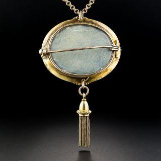 Victorian Garnet and Diamond Tassel Pendant