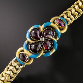 Victorian Garnet and Enamel Bracelet  - 1