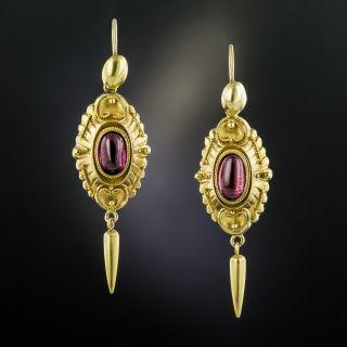 Victorian Garnet Dangle Earrings  - 2