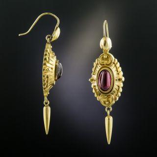 Victorian Garnet Dangle Earrings
