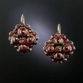Victorian Garnet Drop Earrings - 3