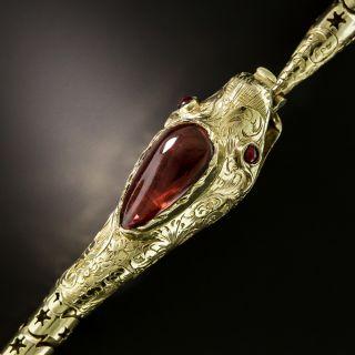 Victorian Garnet Snake Necklace