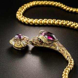 Victorian Garnet Snake Necklace by Hamilton Co. of Calcutta