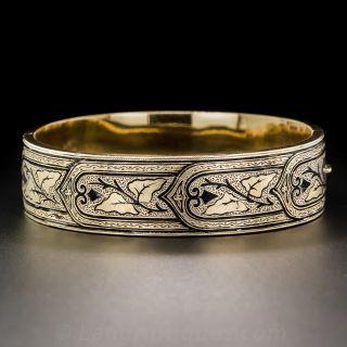 Victorian Gold and Enamel Bangle Bracelet