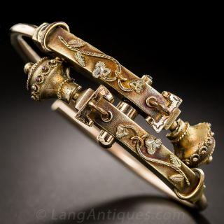 Victorian Gold-Filled Hinged Bangle Bracelet