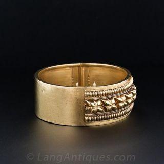 Victorian Gold Hinged Bangle Bracelet