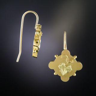 Victorian Gold Leaf  Motif Earrings