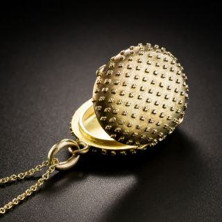Victorian Granulated Gold Locket