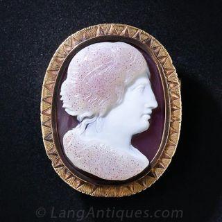 Victorian Hardstone Cameo Pin