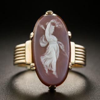 Victorian Hardstone Cameo Ring - 2