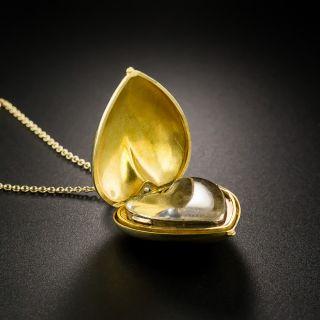 Victorian Heart Locket Pendant