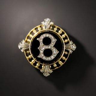 Victorian Initial 'B' Diamond Pin - 2