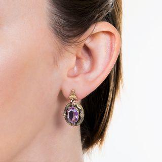 Victorian Light Purple Amethyst Earrings
