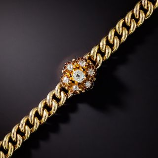 Victorian Link Diamond Cluster Bracelet - 1